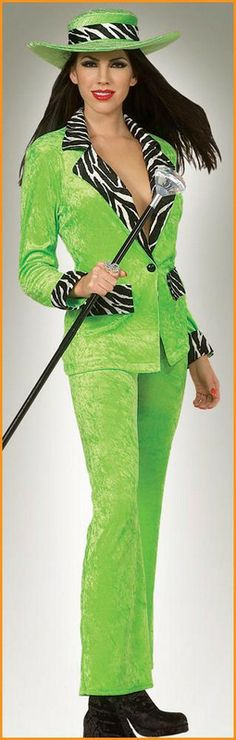 Mac Daddy Diva Costumes Adult Costumes Lime $46.31 costume includes: crushed velvet hat, jacket and pants. St. Patrick's Day Costumes. http://www.halloweencostumes4u.com/prods/rub16325.html