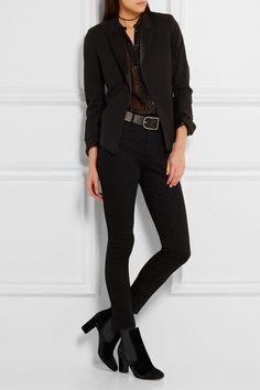 Tabitha Simmons | Micki nubuck-paneled velvet ankle boots | NET-A-PORTER.COM