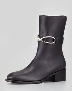672d09522d3c Midcalf Leather Boot Black - Lyst Black Leather Boots