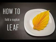 How to Fold a Napkin into a Leaf