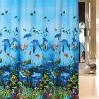 NEW Ocean Sea Life Curtain Waterproof Shower Bathroom 180X180cm With Hooks Ring