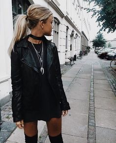 all black outfit wit