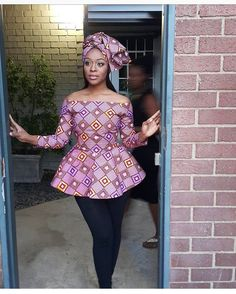 Upgrade your wardrobe staple by adding a colorful print into your closet! Every lady needs one or two or more Ankara tops to spice up her look whenever she steps… Ankara Tops Blouses, African Blouses, African Tops, African Dresses For Women, African Wear, African Attire, African Fashion Dresses, Ankara Clothing, Clothing Styles