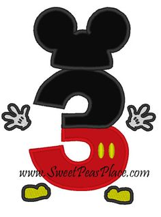 mickey mouse letter and number appliques for shirts