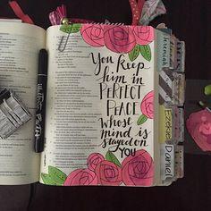 Isaiah 26:3 - #illustratedfaith on Instagram