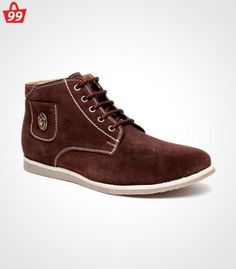 Step in #Style with ultimate pick of this season when you adorn this pair of Bacca Bucci Suede Leather Brown Casual Shoes