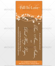 Fall In Love Wedding Cards — InDesign INDD #modern #fall wedding • Available here → https://graphicriver.net/item/fall-in-love-wedding-cards/113512?ref=pxcr