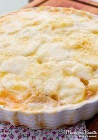 Lasanha de Batata com Frango e Queijo com Molho Branco, para ver a receita, clique na imagem para ir ao Manga com Pimenta.