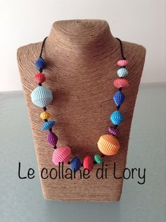 Paper necklace multicolor