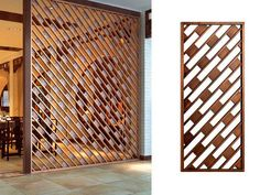 Stunning Privacy Screen Design for Your Home 67 Wood Partition, Partition Screen, Divider Screen, Partition Design, Screen Design, Door Design, Jaali Design, Laser Cut Screens, Decorative Screens