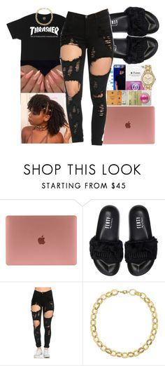 """""""dothatshit!~Playboi Carti"""" by queen-sugah900 on Polyvore featuring Puma and Laundry by Shelli Segal"""
