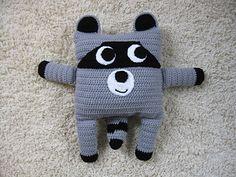 Little Pillow Pals - 6 of 12 - Raccoon by Julie Lapalme