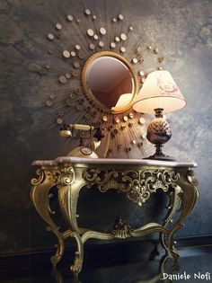 Love me some rococo, and mixed with the mod mirror, it is awesome.