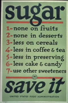 Items similar to Vintage SUGAR Poster Print - Digitally Remastered World War I Era Food Print Kitchen Home Art on Etsy Ww1 Propaganda Posters, Ww2 Posters, Vintage Advertisements, Vintage Ads, Vintage Stuff, Vintage Prints, Vintage Sweets, Vintage Grunge, Vintage Branding