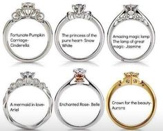 Disney princess engagement rings