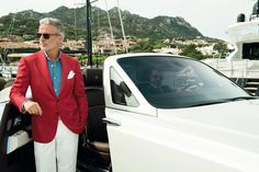 Luxury Italian menswear & accessories created by the finest Italian artisans. Coral, Red Blazer, Old Soul, Spring Summer 2015, Gentleman, Suit Jacket, Menswear, Outfits, How To Wear