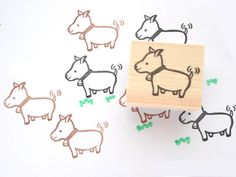 Goat rubber stamp Baby shower animal by JapaneseRubberStamps