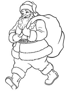 Santa, Christmas Pictures to Color, Christmas Coloring Page, FREE Coloring Page Template Printing Printable Christmas Coloring Pages for Kids, Santa Claus Santa Coloring Pages, Christmas Coloring Sheets, Printable Christmas Coloring Pages, Free Printable Coloring Pages, Coloring For Kids, Coloring Pages For Kids, Coloring Books, Colouring, Free Printables