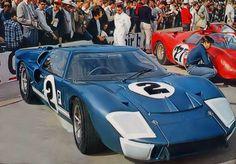 Dan Gurney/Jerry Grant, 1966 Sebring 12 Hours, 7.0 Ford Mk II [#1031]. DQ [pushed over finish line].