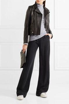Splendid - Supima Cotton And Modal-blend Jersey Turtleneck Top - Light gray - x large