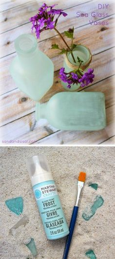 Best DIY Projects : Faux sea glass DIY project, using Martha Stewart glass paint. Love this paint!