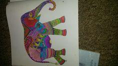 Finished Elephant In Millie Marotta Animal Kingdom