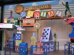 """Toy Story Midway Mania at Hollywood Studios. """"It's a ride that's a game. It's a game that's a ride."""" That description, given by a giant Audio-Animatronic Mr. Potato Head in the queue area accurately describes this new attraction. Use your launcher to send virtual eggs, darts, hoops and other projectiles at 3D virtual targets in this new concept in dark rides."""