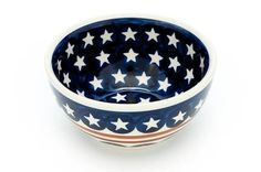Polish Pottery Stars  Stripes Dessert Bowl >>> You can find out more details at the link of the image.