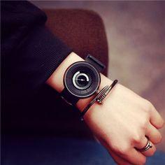 2016 Creative Stylish Man Quartz Watch Fashion Unique Design Rotation School Student Casual Sport Watches Gift Clock