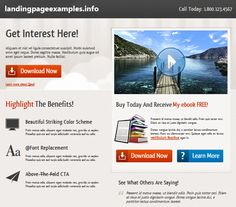Best Landing Pages Examples Images On Pinterest Landing Page - Sample landing page template