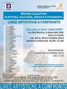 """""""LINEE ARTISTICHE A CONFRONTO""""   fino al 29 settembre 2014  orario di apertura: 16.00 - 21.00"""