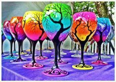 Fun way to spruce up win glasses