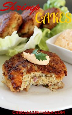 Shrimp Cakes  -  To save money, use the bags of salad shrimp for this recipe.