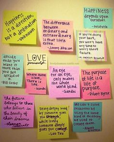 quotes-love the use of post-it notes