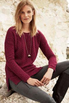 Buy Longline Knitlook Top from the Next UK online shop