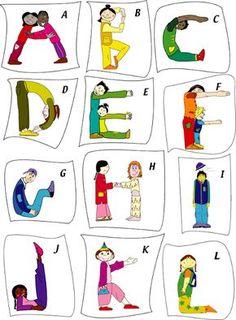 Making the Alphabet with your body:):) Ecole maternelle La Plaine - Magland - Poésie Poses Yoga Enfants, Kids Yoga Poses, Yoga For Kids, Alphabet Activities, Literacy Activities, Activities For Kids, Senior Activities, Kids Education, Physical Education