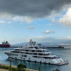 Quantum Blue ' #superyacht #luxury #yacht #richlife #megayacht #gibraltar #amazing #quantumblue #sea #travel #voyage
