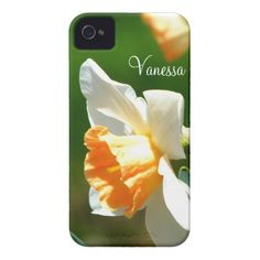 Apricot Daffodil iPhone 4 Case *Personalized* #zazzle #electronics #iphone4 #apricot #daffodil #flower