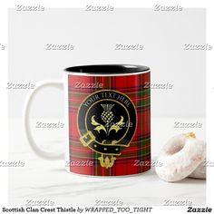 Scottish Clan Crest Thistle Two-Tone Coffee Mug
