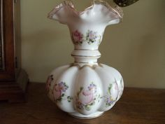Hand Painted Fenton Fan Vase | Like this item?