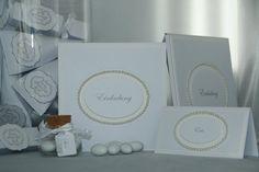 Einladungskarten - Einladungskarte Hochzeit klassisch - ein Designerstück von EvasCardArt bei DaWanda