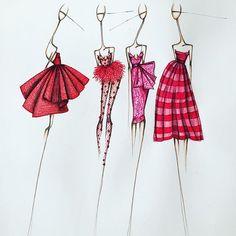 Fashion illustration by Sofie Nordstrøm
