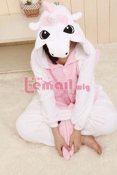 Lovely Unicorn Adult Animal Costume Unisex Kigurumi Pajamas cos