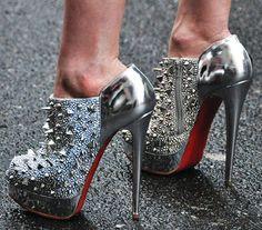 beautiful color grey high heels