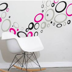 Wall Designs Stickers retro rings wall decals | wall decals, modern wall decals and walls