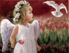 artist: Joyce Birkenstock/ Children often have imaginary playmates. I suspect that half of them are really their guardian angels... -Eileen Elias Freeman