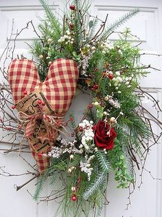 Winter Valentine's Day Door Wreath | eBay