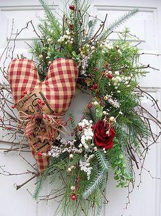 Winter Valentine's Day Door Wreath | eBay