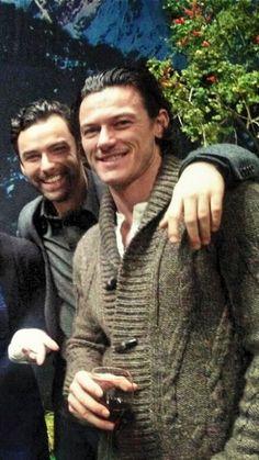 Luke Evans and Aiden Turner....Welsh and Irish