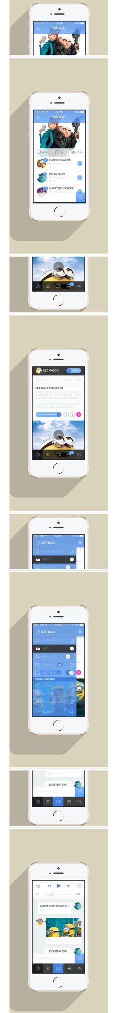Design application #mobile, kit UI iphone